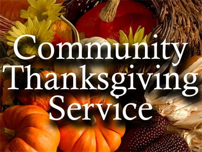 Community Thanksgiving Service! Click to join...